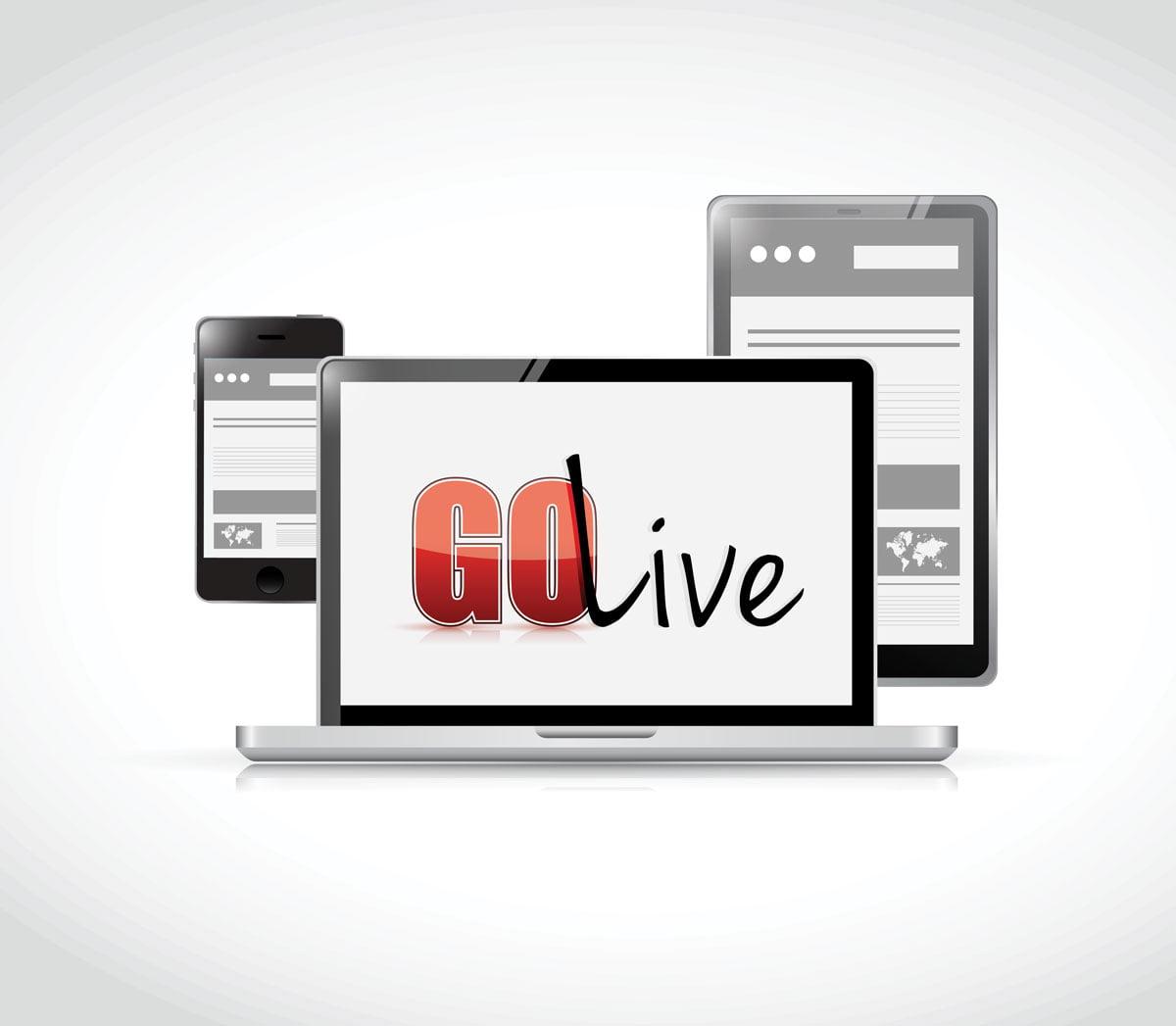 Go Live Website Concept